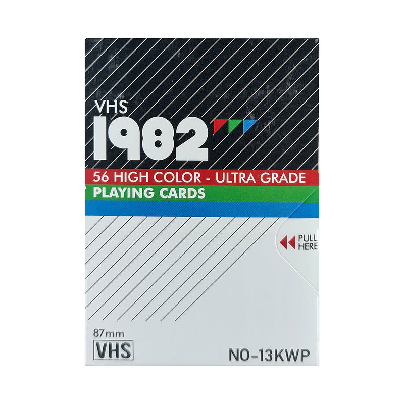 VHS 1982 Playing Cards