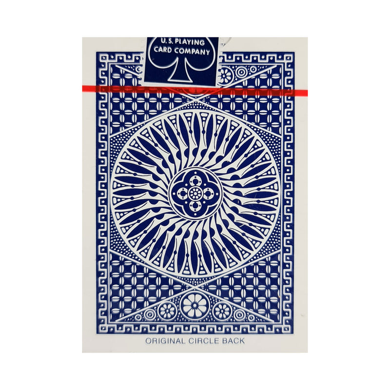 Tally-Ho Circle Back Thin Crushed Blue Playing Cards