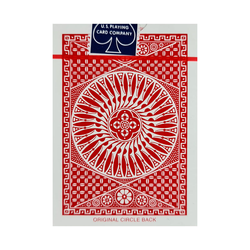 Tally-Ho Circle Back Thin Crushed Red Playing Cards