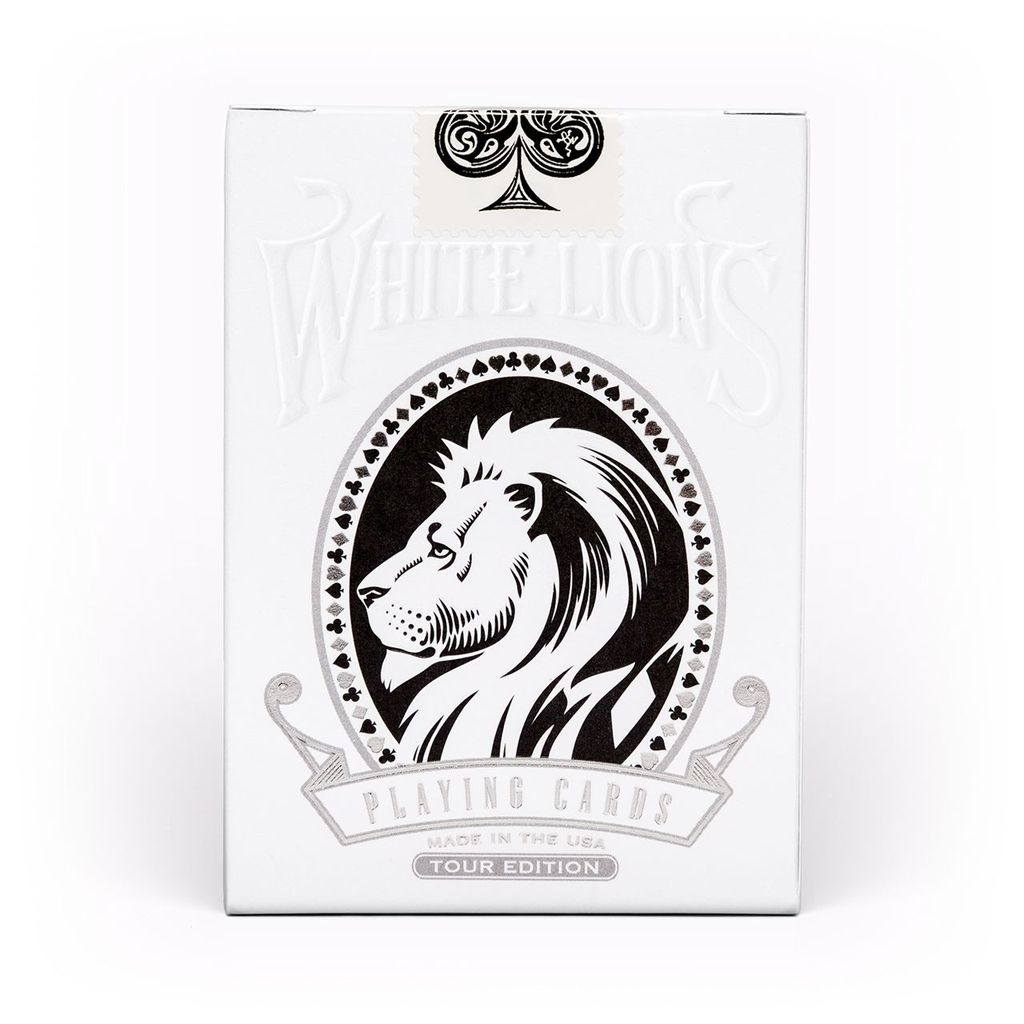 White Lions Tour Series Black Reverse Playing Cards