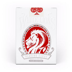 White Lions Tour Series Red Playing Cards