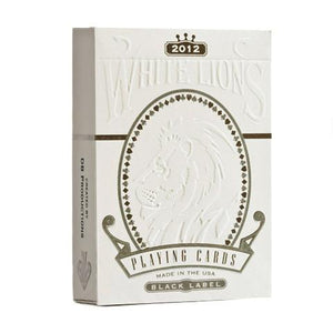 White Lions Series B Black Label Playing Cards