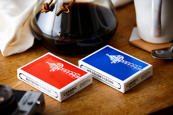 Ace Fulton's Casino Classic Red Playing Cards