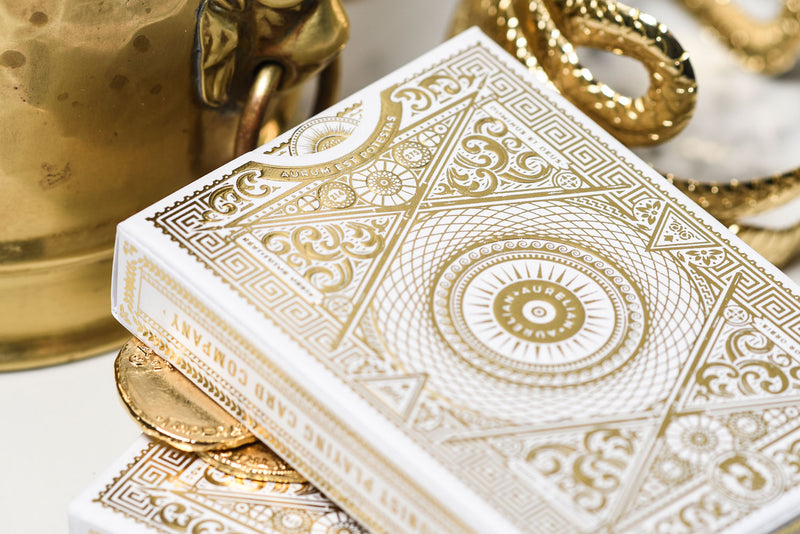 Aurelian White Playing Cards
