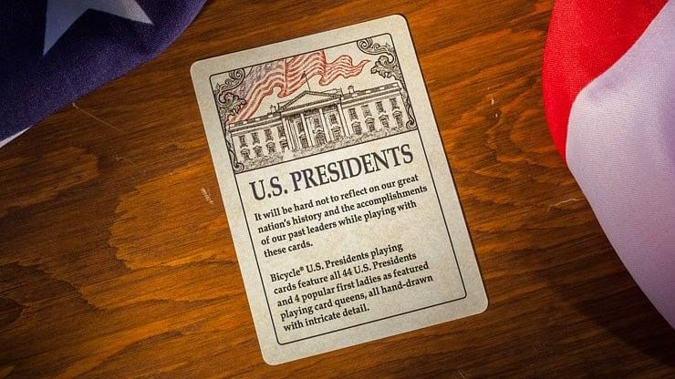Bicycle US Presidents Red Playing Cards