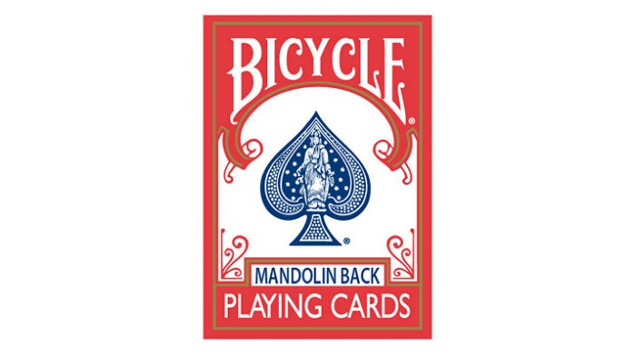 Bicycle Mandolin Back Red Playing Cards