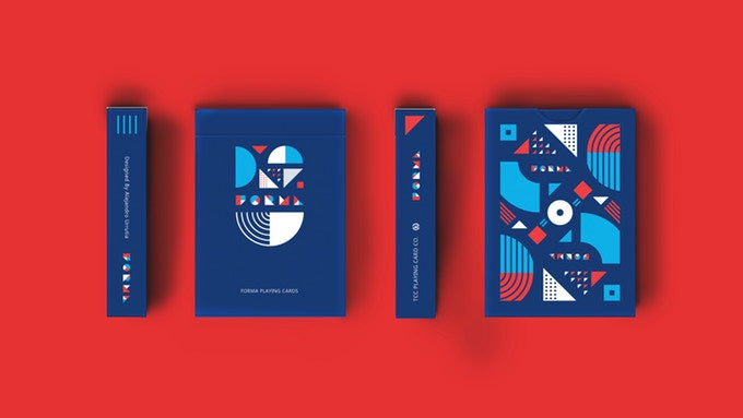 Forma Blue Playing Cards