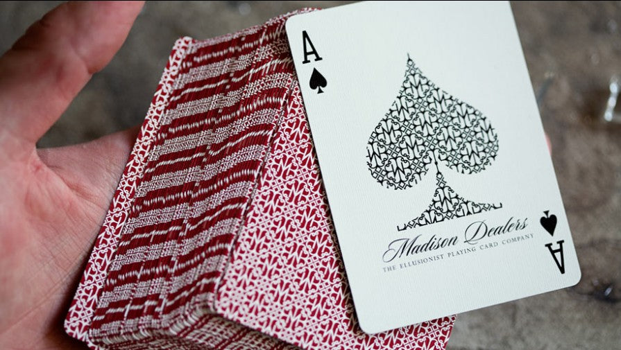 Madison Dealers Scarlet v1 (Marked) Playing Cards
