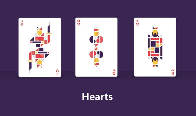 Forma Purple Playing Cards