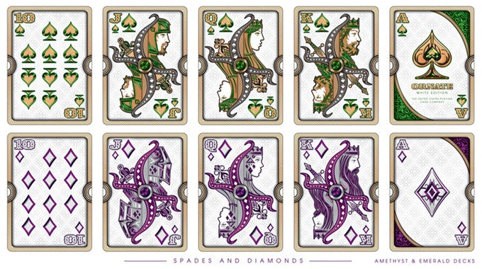 Bicycle Ornate White Amethyst Edition Playing Cards