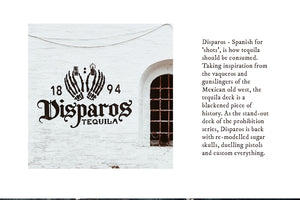 Disparos Tequila Black Playing Cards