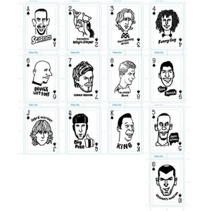 Bicycle Shoot Soccer Junky Playing Cards