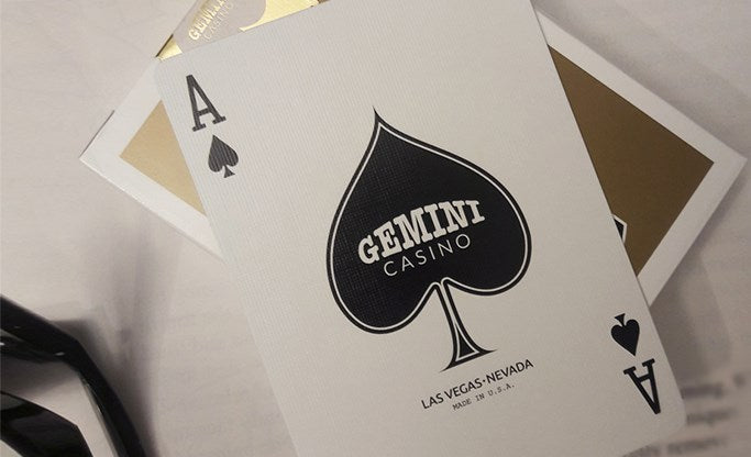 Gemini Gold Playing Cards