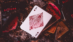 Madison Hellions Red Playing Cards