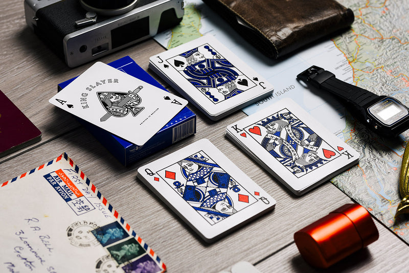 King Slayer Teal Playing Cards
