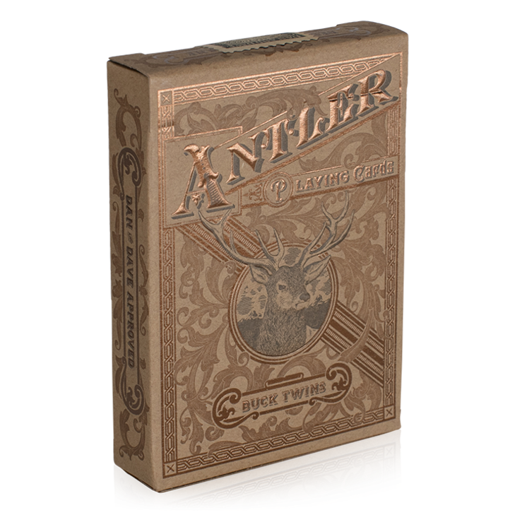 Antler Tobacco Brown Playing Cards