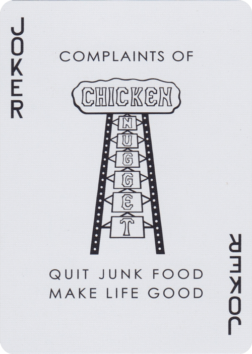 Chicken Nugget Red Playing Cards