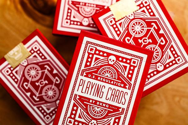 DKNG Red Wheels Playing Cards