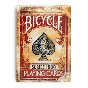 Bicycle Vintage Series 1800 Red (Marked) Playing Cards
