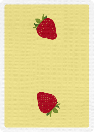 Snackers Strawberry Flavor Playing Cards
