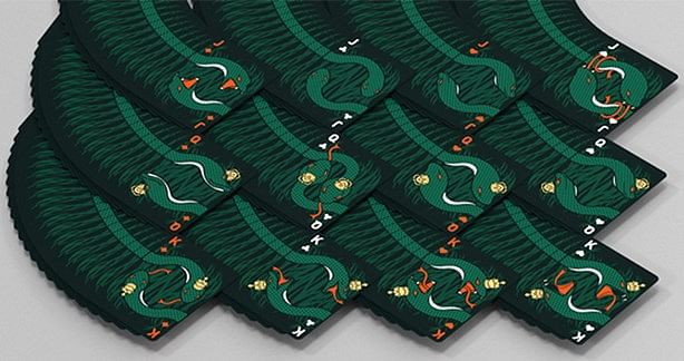 Serpent Green Playing Cards