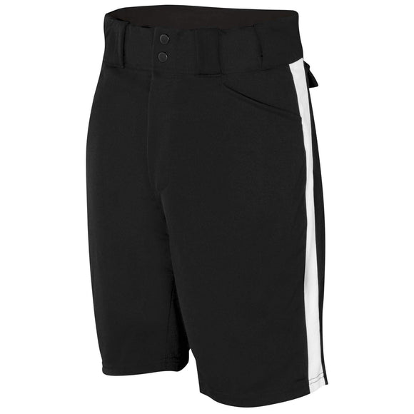 Adams Performance Stretch Football Shorts w/ White Stripe