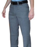 Smitty Women's Non-Expander Waistband Flat Front COMBO Pant Heather Grey