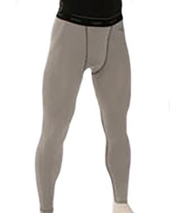 Smitty Grey Compression Tights w/ Cup Pocket