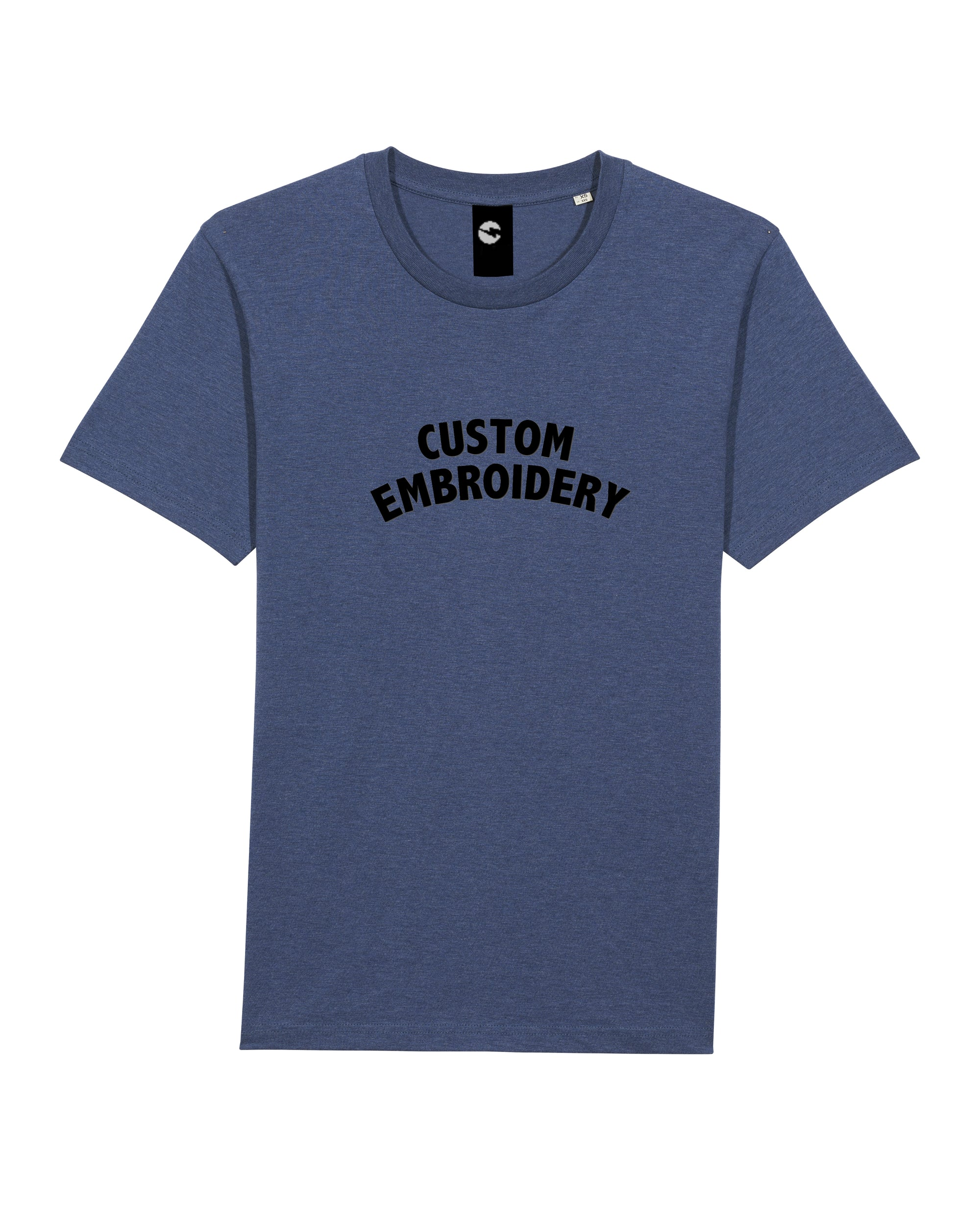 UNISEX MEDIUM FIT ORGANIC COTTON T-SHIRT - customisable centre chest embroidery