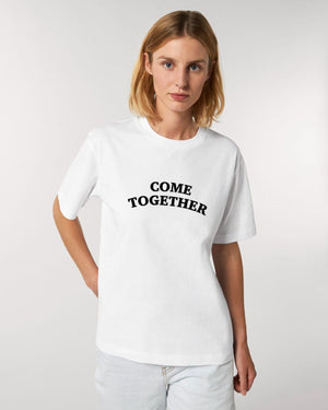 'COME TOGETHER' EMBROIDERED 100% ORGANIC COTTON UNISEX 'FUSER' T-SHIRT