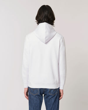 MEN'S MEDIUM FIT ORGANIC COTTON 'DRUMMER' HOODIE - customisable centre chest embroidery