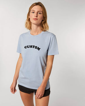 WOMEN'S GARMENT DYED ORGANIC COTTON 'CREATOR VINTAGE' T-SHIRT - customisable centre chest embroidery