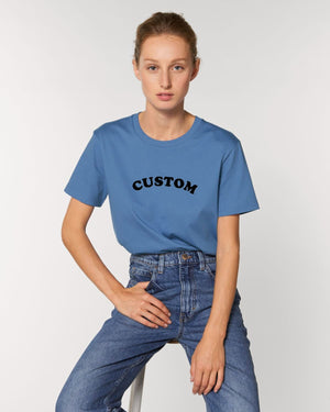 WOMEN'S MEDIUM FIT ORGANIC COTTON 'CREATOR' T-SHIRT - customisable centre chest embroidery