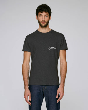 MEN'S FITTED ORGANIC COTTON T-SHIRT - customisable left chest embroidery