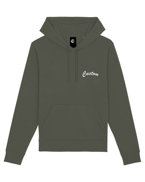 MEN'S MEDIUM FIT ORGANIC COTTON HOODIE - customisable left chest embroidery