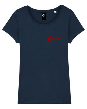 WOMEN'S MEDIUM FIT ORGANIC COTTON T-SHIRT - customisable left chest embroidery
