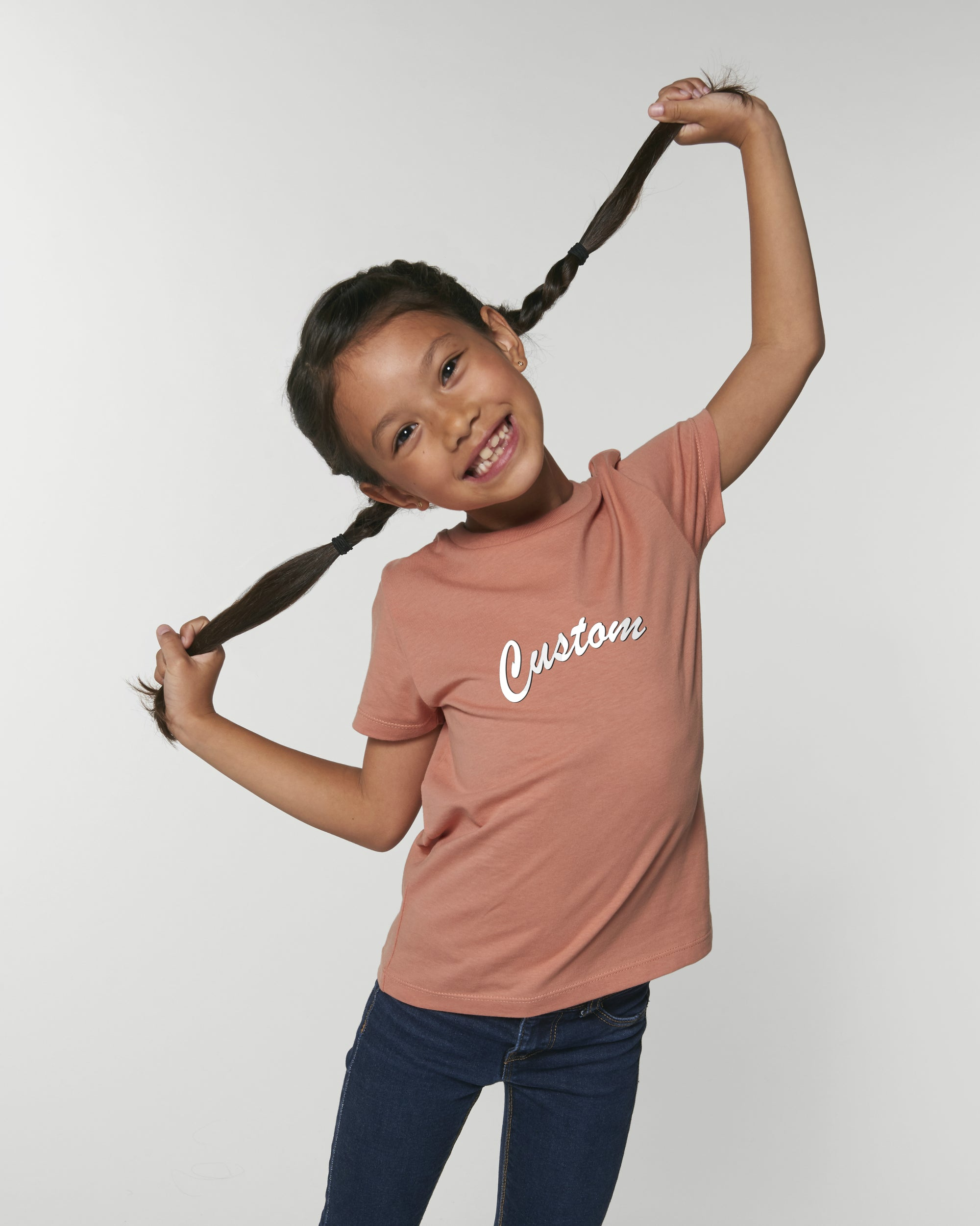 KIDS' ORGANIC COTTON CREW NECK T-SHIRT - customisable centre chest embroidery
