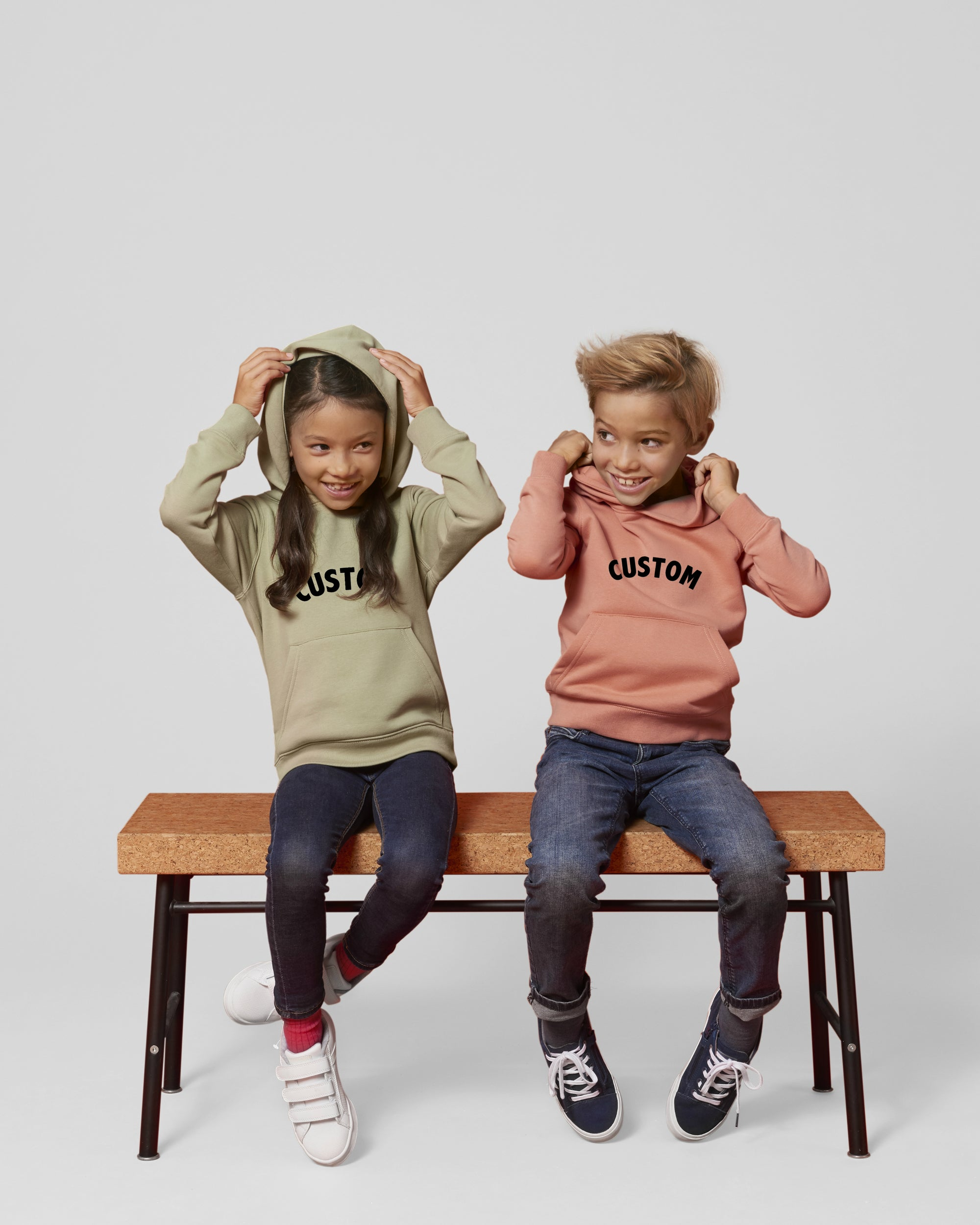 KIDS' ORGANIC COTTON 'MINI-CRUISER' HOODIE - customisable centre chest embroidery
