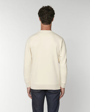 'PENNY LANE' LEFT CHEST EMBROIDERED ORGANIC COTTON UNISEX SWEATSHIRT