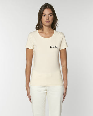 'PENNY LANE' EMBROIDERED WOMEN'S FITTED ORGANIC COTTON T-SHIRT