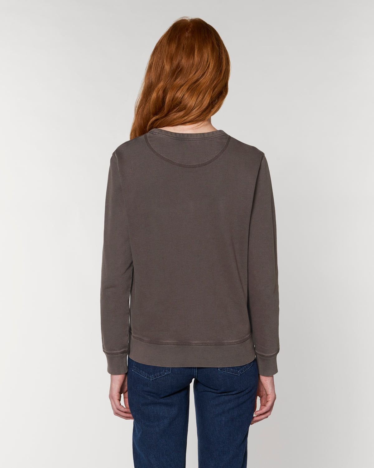 UNISEX VINTAGE GARMENT DYED CREW NECK 'JOINER' SWEATSHIRT - customisable centre chest embroidery