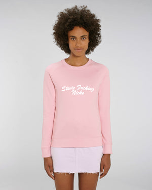 'STEVIE F*CKING NICKS' EMBROIDERED WOMEN'S ORGANIC COTTON SWEATSHIRT