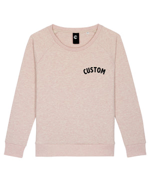 WOMEN'S RELAXED FIT ORGANIC COTTON 'DAZZLER' SWEATSHIRT - customisable left chest embroidery
