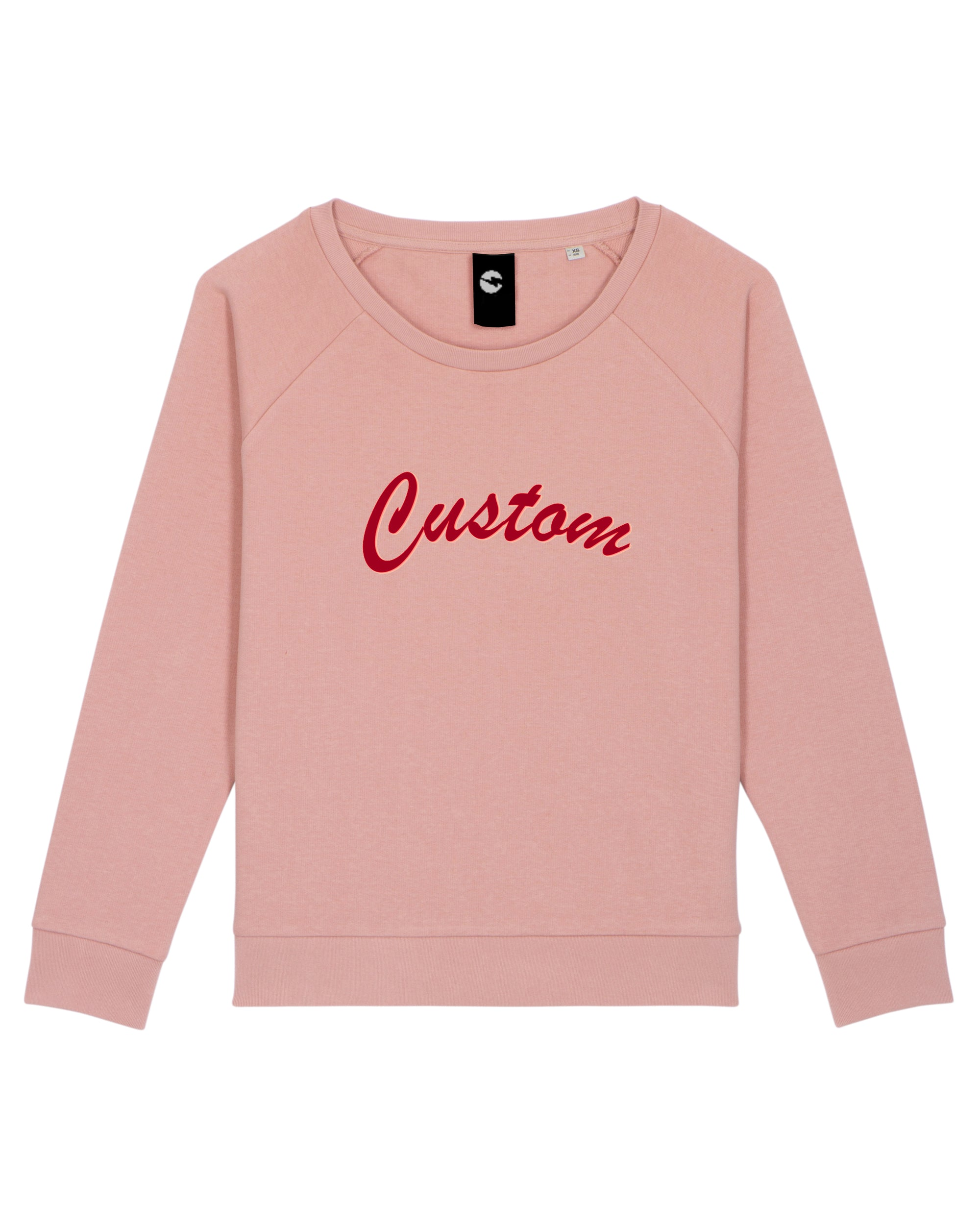WOMEN'S RELAXED FIT ORGANIC COTTON 'DAZZLER' SWEATSHIRT - customisable centre chest embroidery
