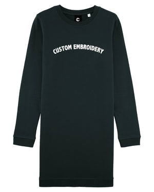 WOMEN'S CREW NECK 'MAZZY' SWEATSHIRT DRESS - customisable centre chest embroidery