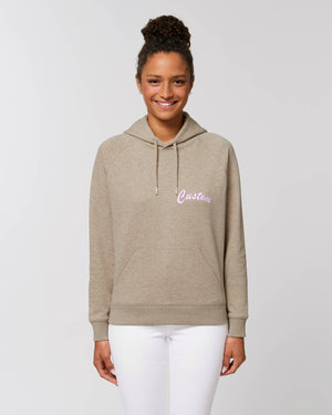 WOMEN'S MEDIUM FIT ORGANIC COTTON 'TRIGGER' HOODIE - customisable left chest embroidery