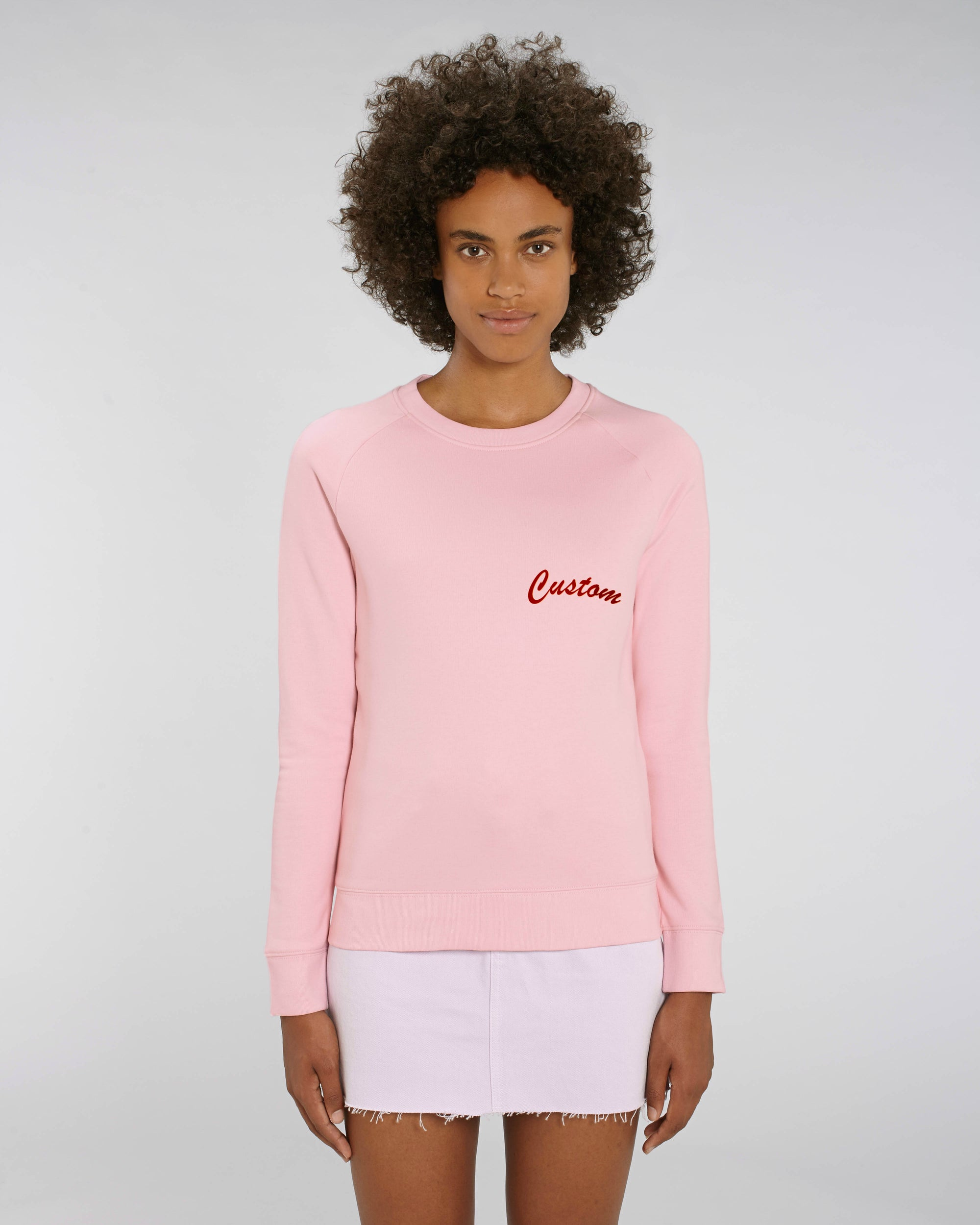 WOMEN'S ORGANIC COTTON CREW NECK TERRY 'TRIPSTER' SWEATSHIRT - customisable left chest embroidery