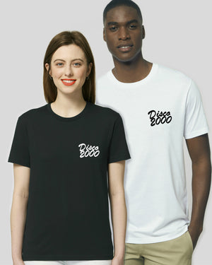'DISCO 2000' EMBROIDERED UNISEX MEDIUM FIT ORGANIC COTTON T-SHIRT