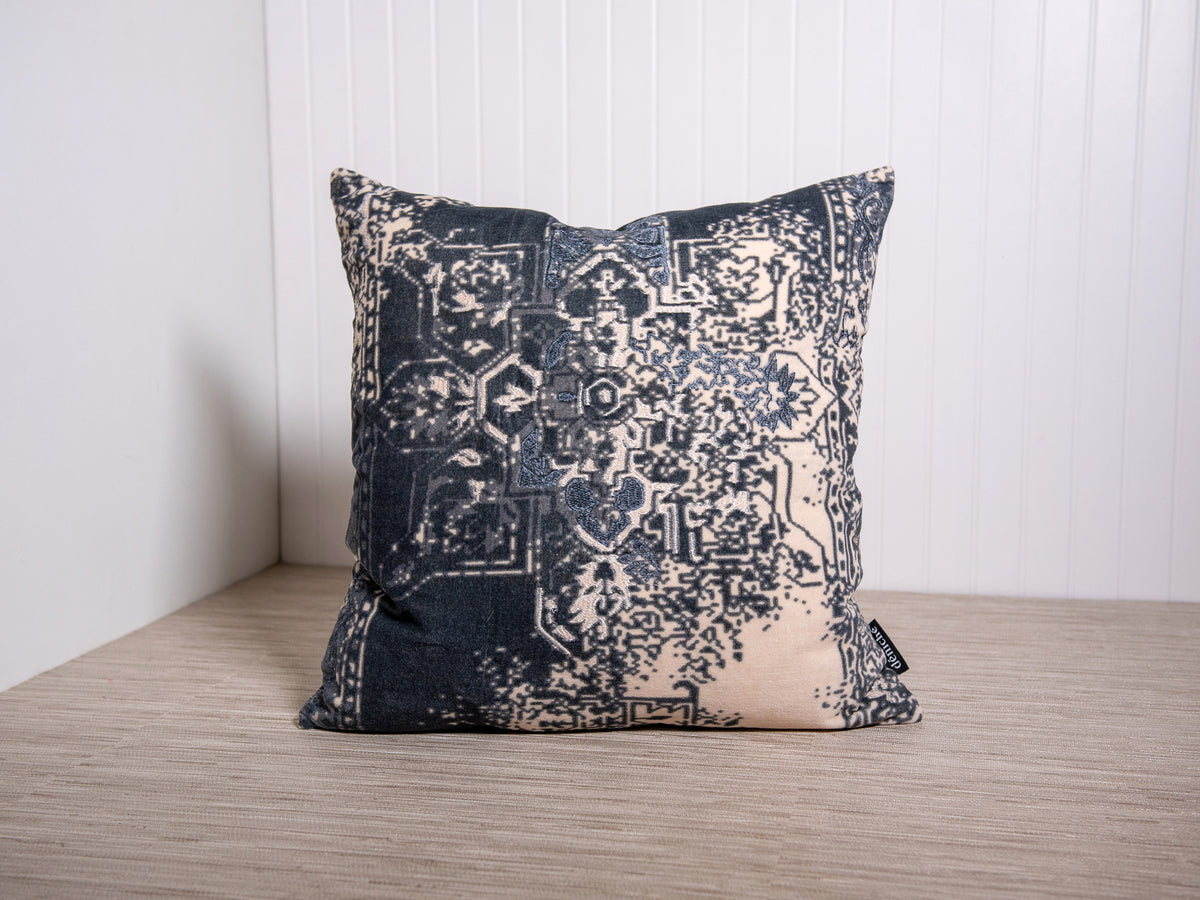 velvet agra pillow with embroidery