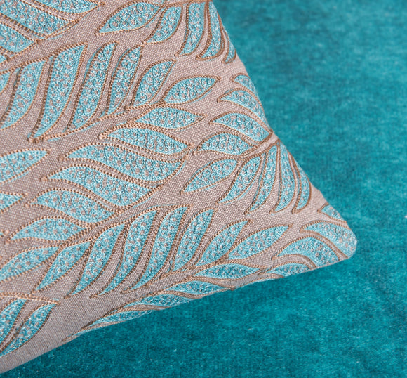 Teal Oblong Avignon Pillow